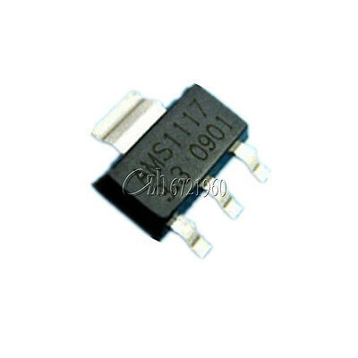 10Pcs AMS1117-3.3 LM1117 3.3V 1A  SOT-223 Voltage Regulator