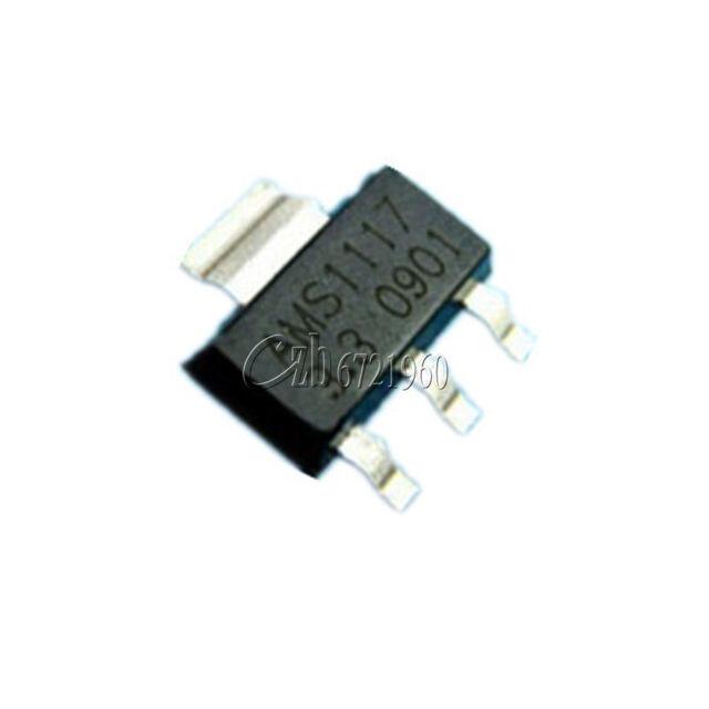 10Pcs AMS1117-3.3 LM1117 3.3V 1A  SOT-223 Voltage Regulator