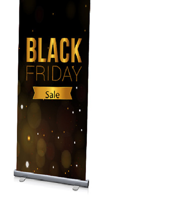 """24/""""x72/"""",2PACK,NEW and Heavy-Duty Standard Retractable Roll Up Banner Popup Stand"""