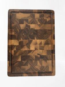 Tagliere da cucina in legno di noce 395x295x48 mm professionale made in Italy