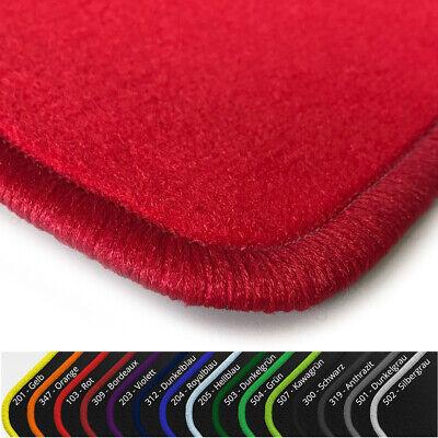 $$$ Lengenfelder Fußmatten passend für Hyundai Kona Rand Kunstleder rot NEU