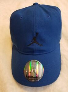 550739709b4c3 Jordan Floppy H86 Strapback Adjustable Hat Cap Blue Black Nike Air ...