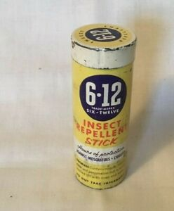 Vintage-Advertising-Tin-6-12-INSECT-REPELLENT-STICK-Tin-Mosquito-Repellent
