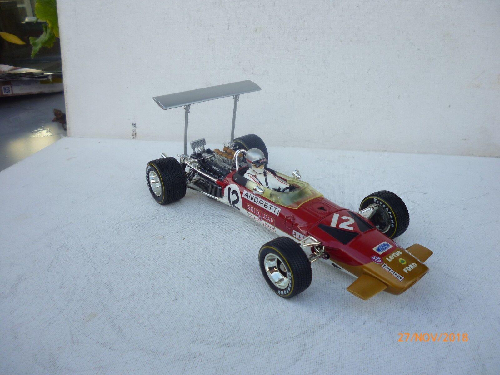 QUARTZO Lotus 49B U.S.A G.P.  1968  Mario Andretti 1:18 ohne OVP