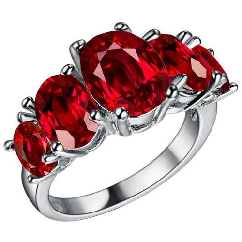 Pigeon Blood Red Ruby 8x8mm 2.12ct Trillion Shape Cut AAAAA VVS Loose Gemstone