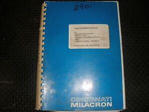 cincinnati milacron arrow ere vmc programing manual arrow control ebay rh ebay com Millermatic 35 Manual Cincinnati Milacron Bankruptcy