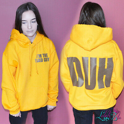 Adult S Bad Guy Duh Hoodie Yellow Billie Eilish Hoodie Birthday Gift Ebay