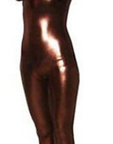 Metallic lycra Catsuit Womens Dance Wear Spandex Zentai Bodysuit Back Zipper