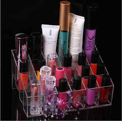 1x 670148 Hotsale Clear 24 Makeup Lipstick Cosmetic Storage Display Stand Holder