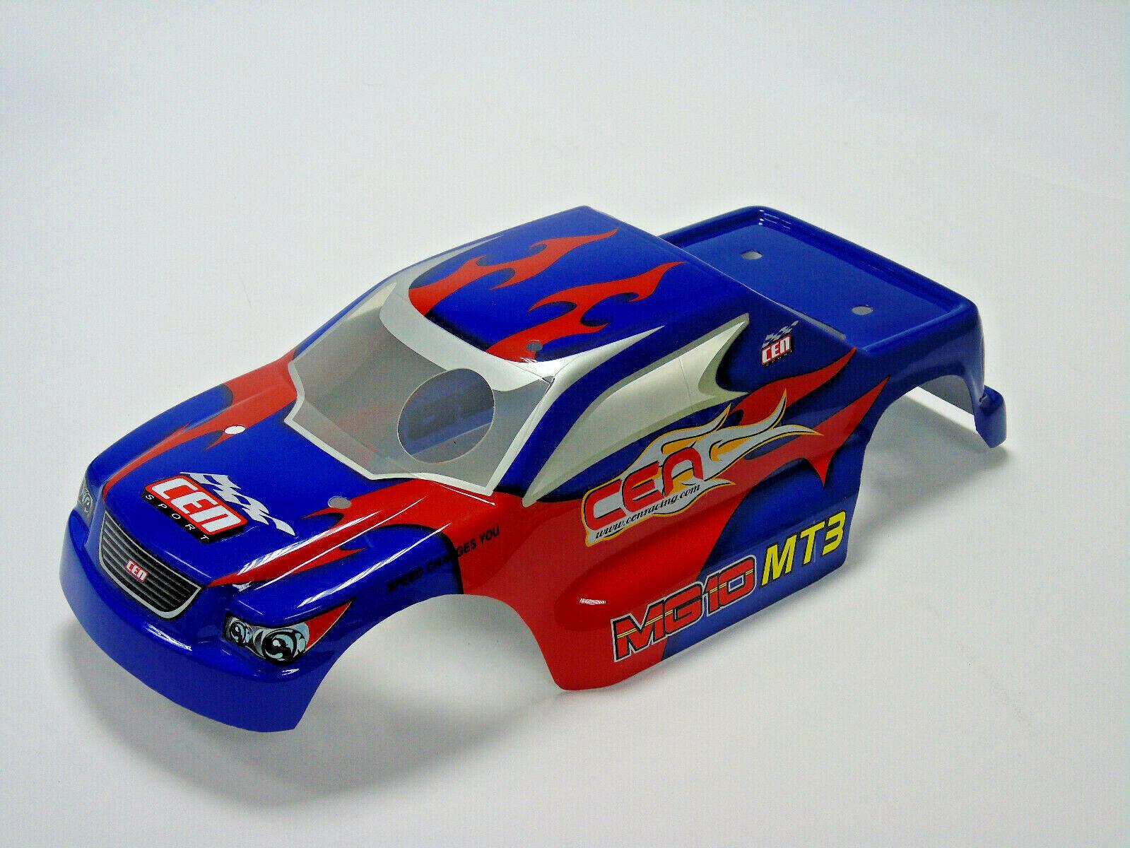 Mg103 Cen Racing Rc Parti Auto Mg10 Mt3 Mt3 Mt3 Lampeggiante Carrozzeria (Blu) Nuovo b59c22