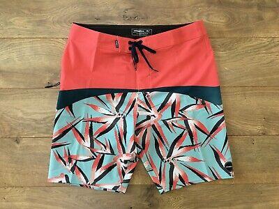 New O/'NEILL board shorts HYPERFREAK solid red Santa Cruz stretch 30 or 34