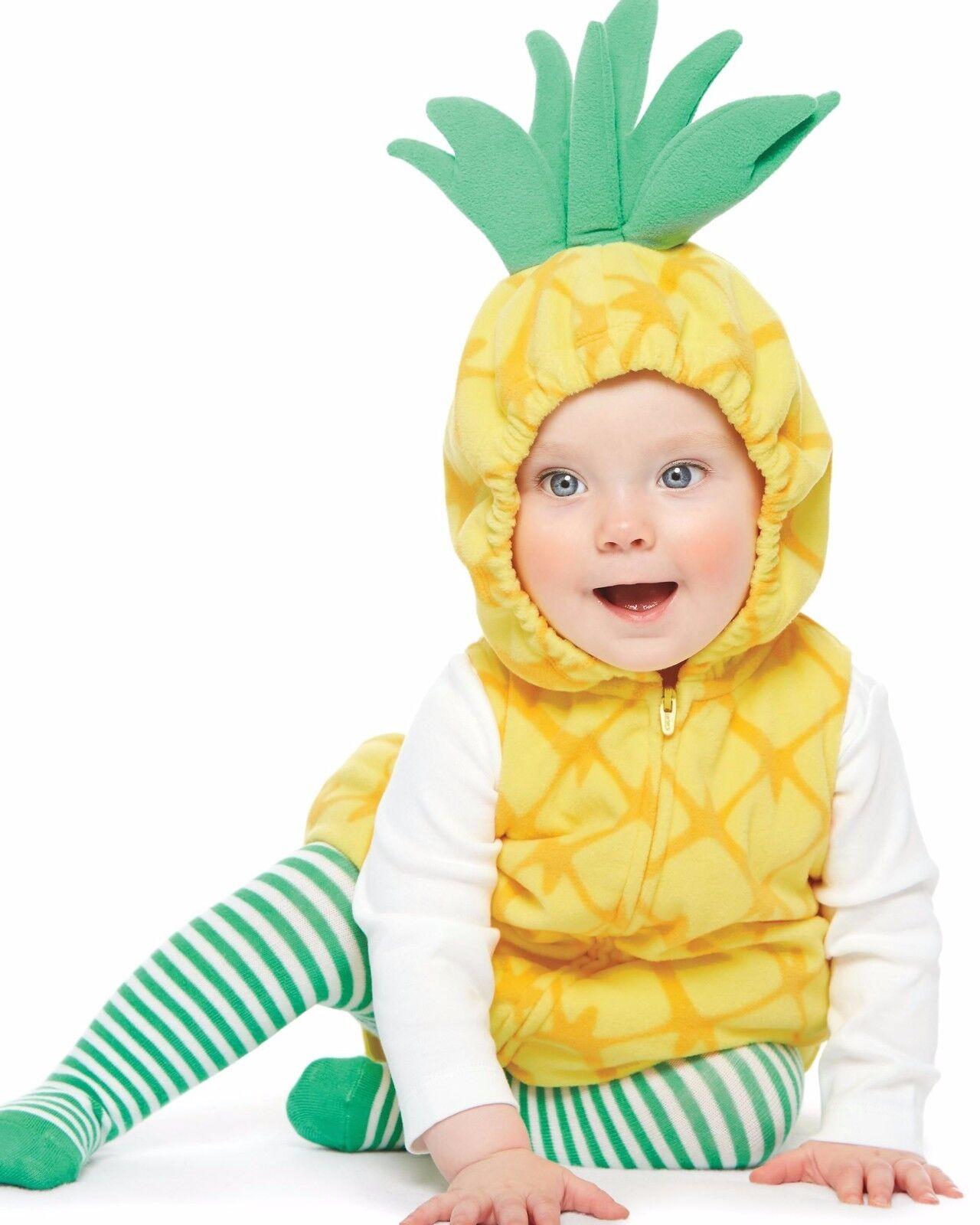 carter's pineapple baby girl's halloween costume 3pc 12 months | ebay