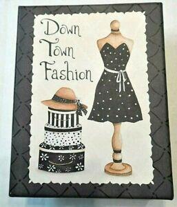 Note-Card-Boxed-Set-Down-Town-Fashion-16-Cards-Envelopes-Tri-Coastal-2-Designs