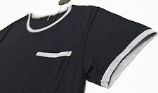 $218 DIWON Cashmere-Silk Ribbing Cotton Jersey Black Tee T-Shirt XL X-Large