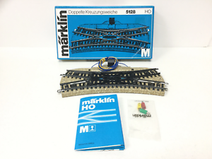 Marklin-5128-HO-Gauge-M-Track-Electrically-Operated-Double-Slip-NEW