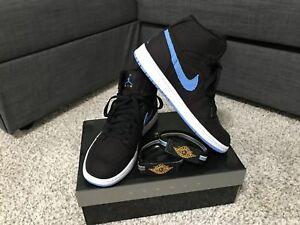 786da6b08512 Nike Air Jordan 1 Retro High Strap Black University Blue White Men s ...