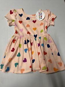 Dot Dot Smile Girls Dress Size 6/12 months Pink/Multi Color NWT