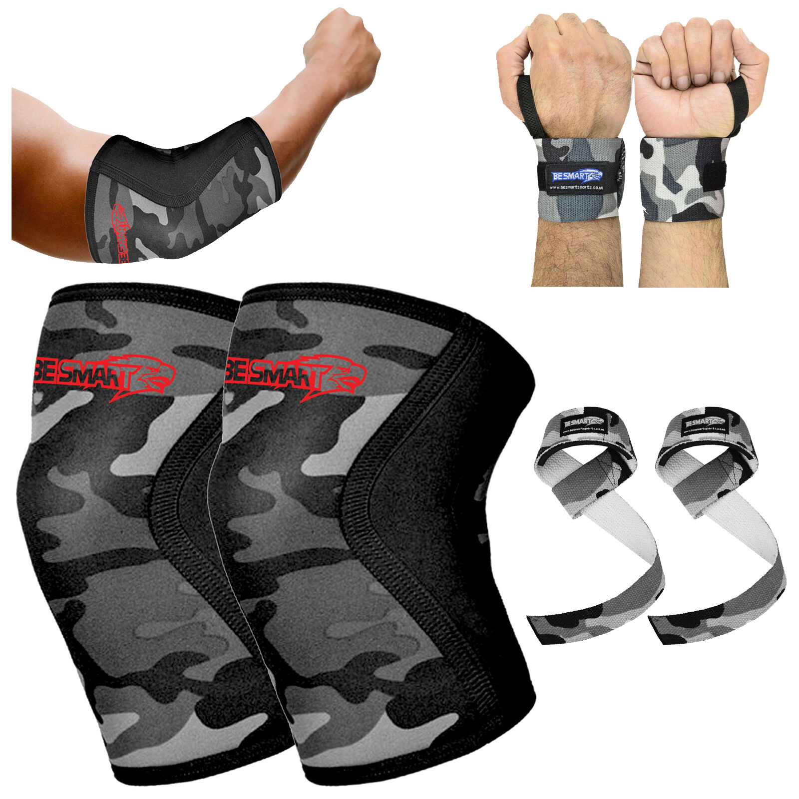 Lifters Knee Sleeves Elbow  Wrist Wraps Strap Crossfit Powerlifting Squatting