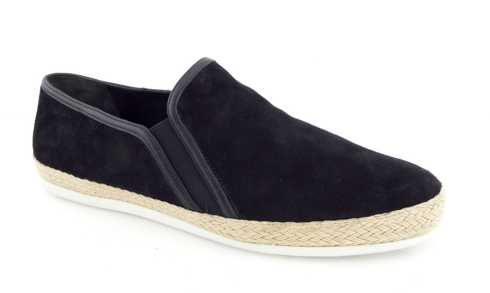 New VINCE Size 11 ACKER Black Suede Slip Ons Sneakers shoes 41