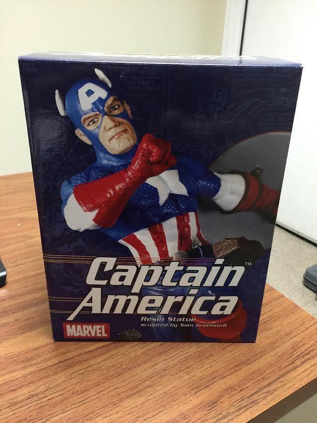2002-marvel 2002-marvel 2002-marvel captain america - 8  harz statue-1 7500 c.o.a 2274a6