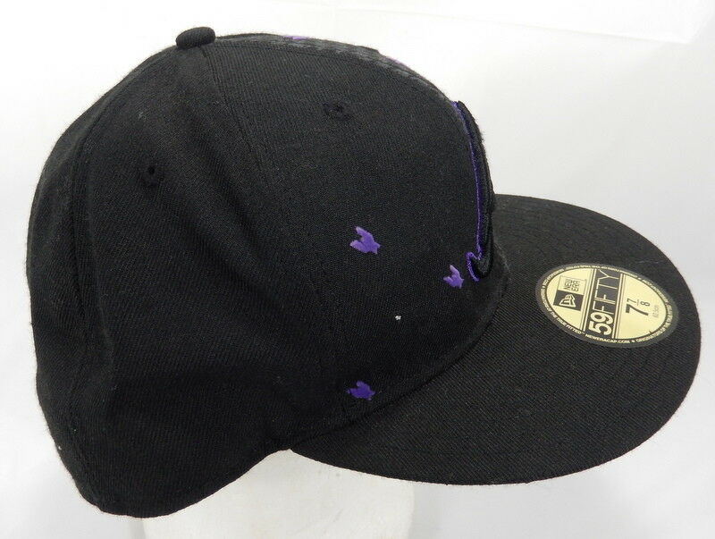 new product bc6c8 85bab ... norway black and purple new era atlanta braves fitted hat hat fitted 7  7 8 0b5e2e
