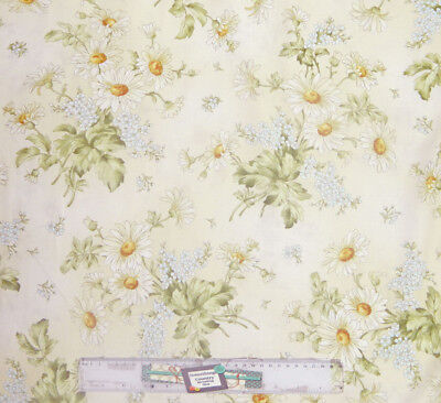 Quilting Patchwork Sewing Fabric GENTLE GARDEN CREAM TONAL LEAVES 50x55cmFQ NEW