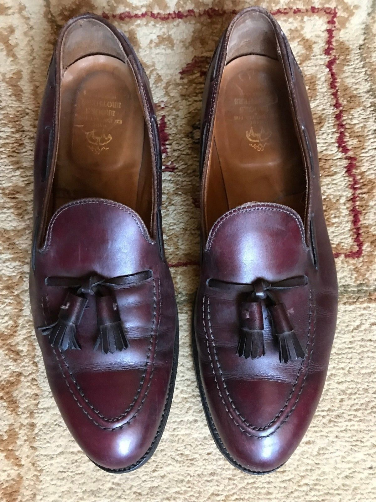 Men's Brooks Bredhers Brown Tassel Loafers  Penny Size 12 D