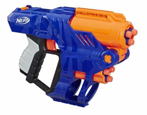 Nerf Elite Shellstrike DS-6 Blaster feuert 3 Darts aus Hülsen ab NEU OVP