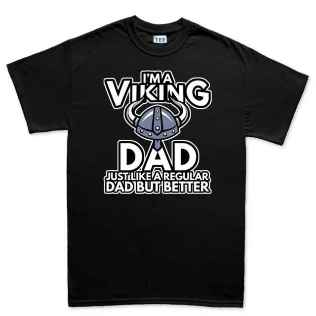 Viking Dad Father's Day Gift For Daddy Mens T shirt Tee Top T-shirt