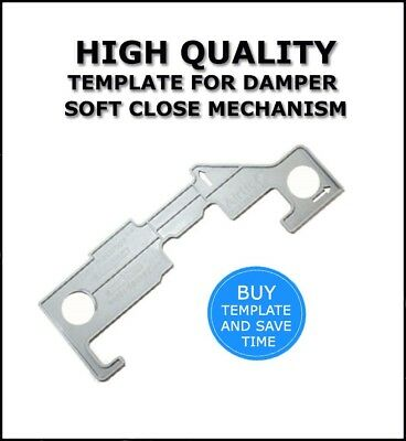 DAMPER TEMPLATE SOFT CLOSE MECHANISM FOR SLIDES METAL AND WOODEN  DRAWERS D-03