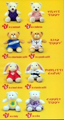 Cuddly Teddy as Baby #7 2006 Build A Bear McDonalds Happy Meal Toy