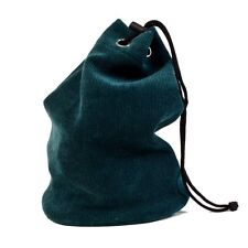 New Drawstring Chess Pieces Bag – Locking Clasp - Green