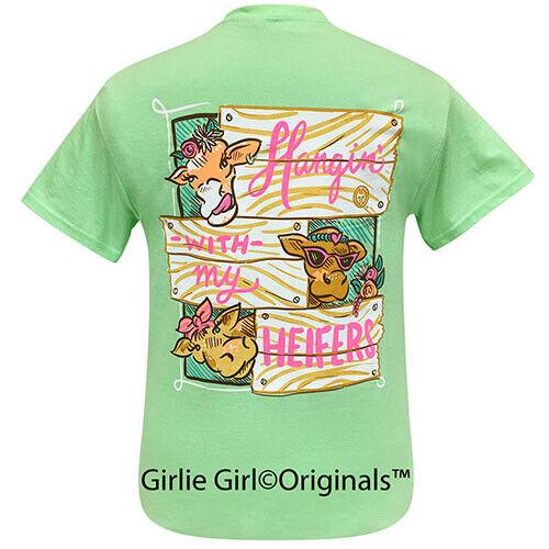 Girlie Girl Originals Tees Hangin with my Heifers 2 Mint Short Sleeve T-Shirt - 2225