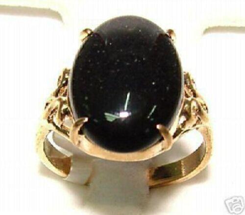 charme oval schwarz Achat 18 kgp hochzeitsfeier ring US größe 6,7,8,9,10
