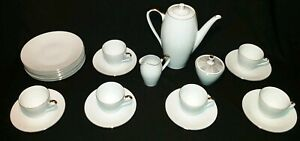 Full Tea Set with Bread/ Butter Plates Tirschenreuth Porcelain Bavaria TEA CUPS