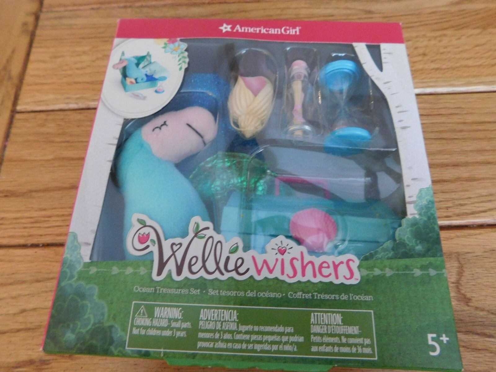 AMERICAN GIRL WELLIE WISHERS OCEAN TREASURES SET NEW IN BOX RETIRED FREE SHIP
