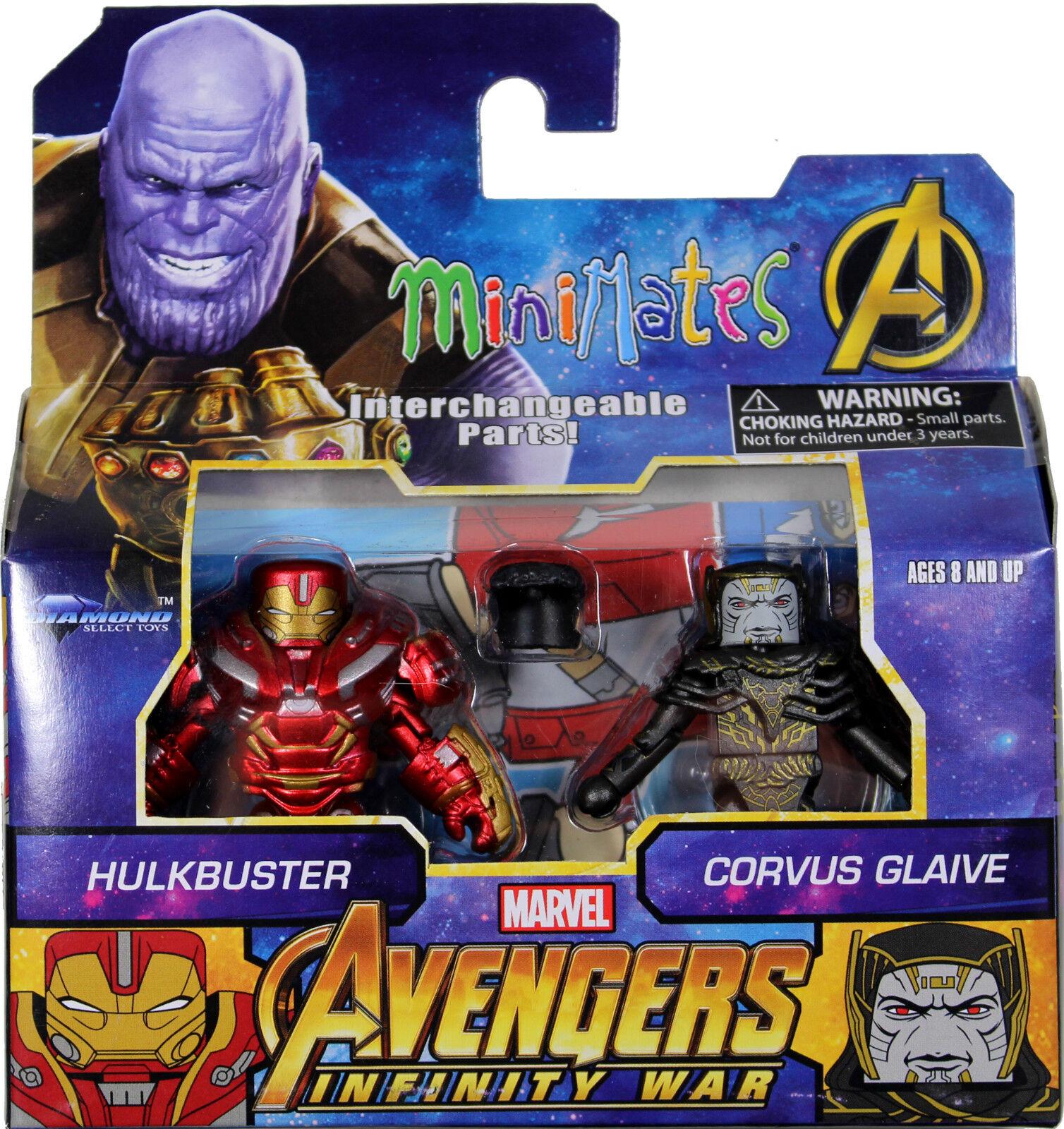 Marvel Minimates  HULKBUSTER & CORVUS GLAIVE ACTION FIGURE SET  DST