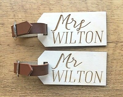 Bride Groom Mr Mrs Luggage Tags