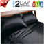 Black Queen Size Satin Sheets 4pc Set Soft Silk Feel Bedding Luxury Bed Comfort
