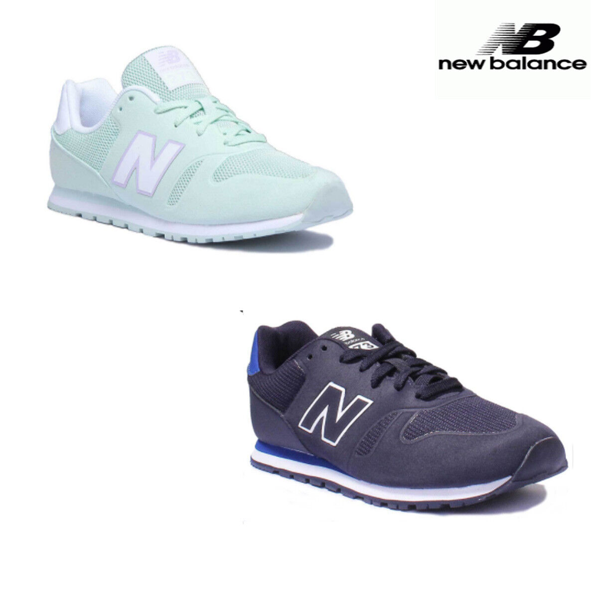 NEU Balance KD373P2Y Youth Suede Mint Trainers