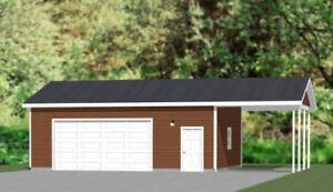 Details About 30x24 2 Car Garage With Carport 720 Sqft Pdf Floor Plan Model 10k
