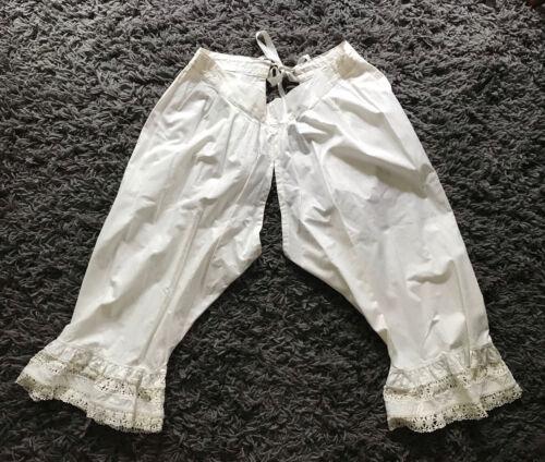 Vintage Pantaloons Antique Cotton Bloomers Edward… - image 1