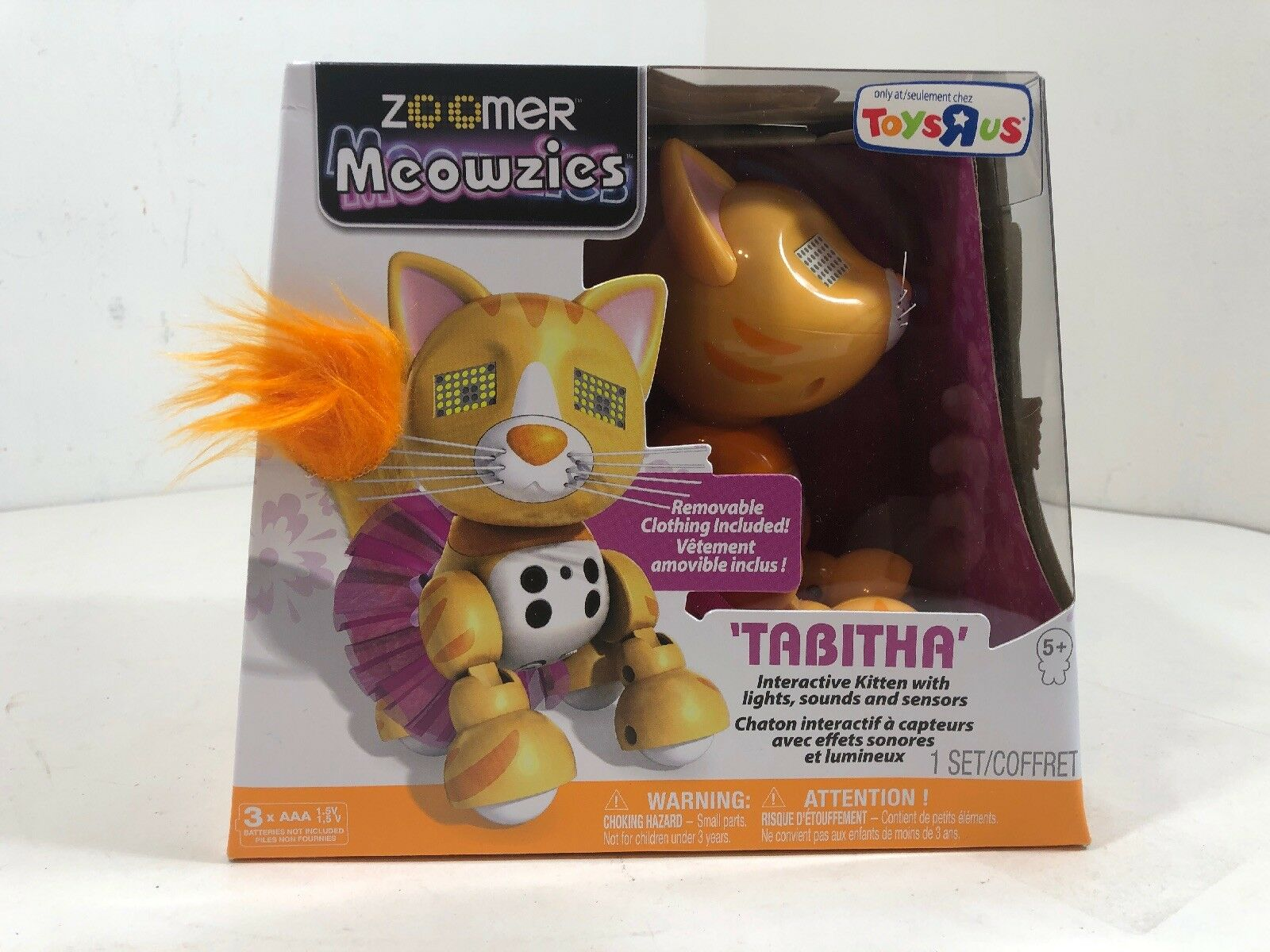 Meowzies Tabitha orange Tabby Cat Kitty Zoomer Interactive Pet Toy - Toys R Us