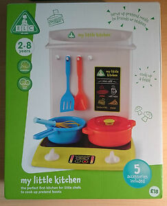 ELC-Kids-Childrens-My-First-Little-Kitchen-Play-Centre-Set-Pots-and-Pans-NEW