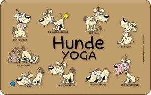 Details Zu Hunde Sprüche Yoga Frühstücksbrettchen Größe 142x233 Cm