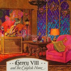 1930 Slyker Radiator Henry Viii Gothic Schleicher Style Art Decor Vintage Ad Ebay