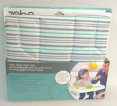 Zobo High Chair Seat Pad for Summit High Chairs stripes