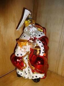 1999 Christopher Radko Glass Christmas Tree Ornament Old ...