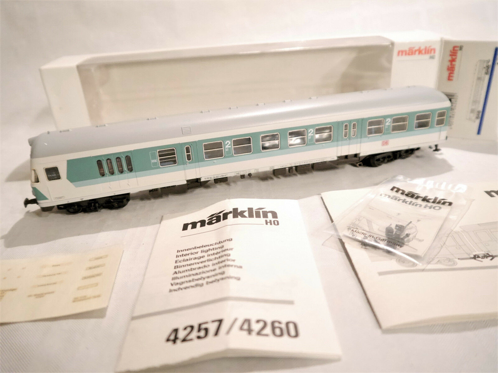 DB City Railway Transport Control Car Märklin Marklin in 1 87 H0 Boxed