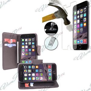 Etui-Housse-Portefeuille-PU-Effet-Tissue-Apple-iPhone-6-2-Films-Verre-Trempe